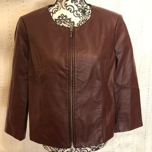 The Limited Faux-Leather Lined Jacket